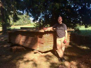 Rough Sawn Red Cedar Boards