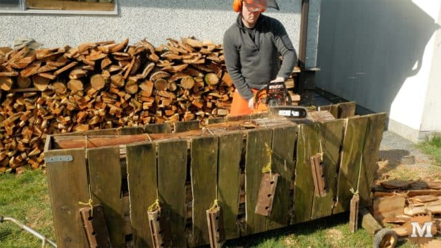 Old Firewood Cutting Jig