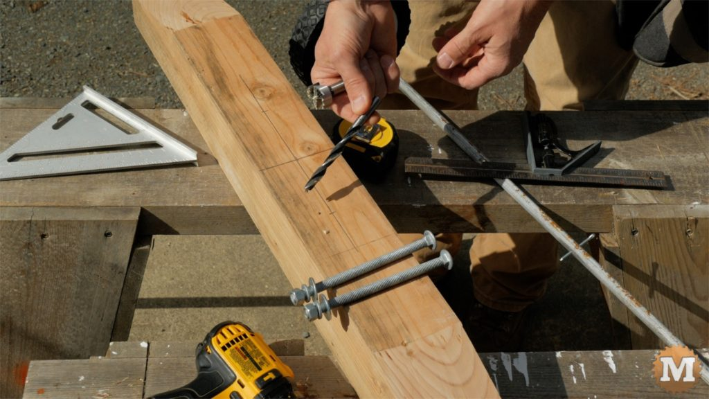 MAN about TOOLS - firewood cutting jig - carriage bolts - drill bits