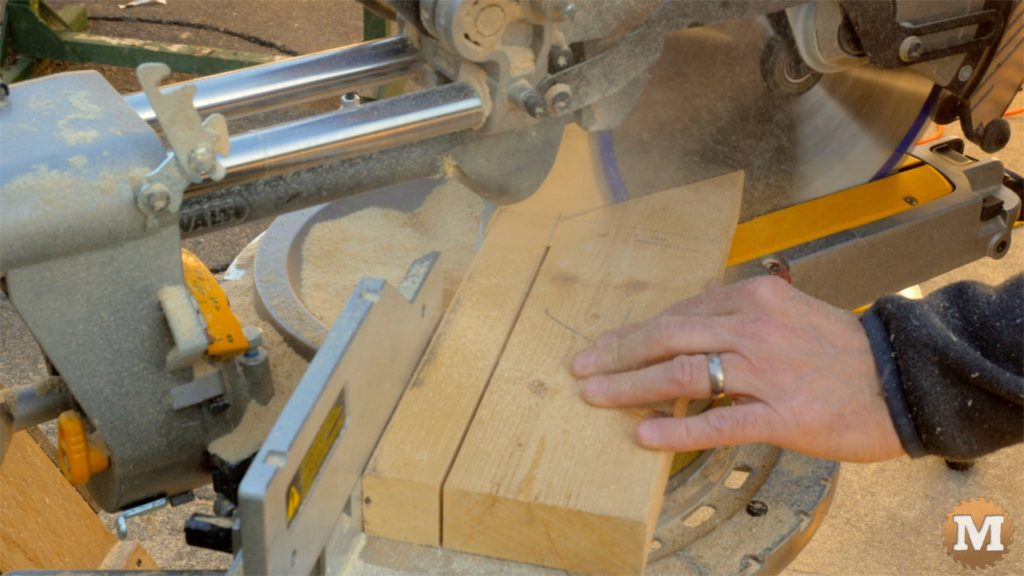 MAN about TOOLS - firewood cutting jig - mitre saw handles