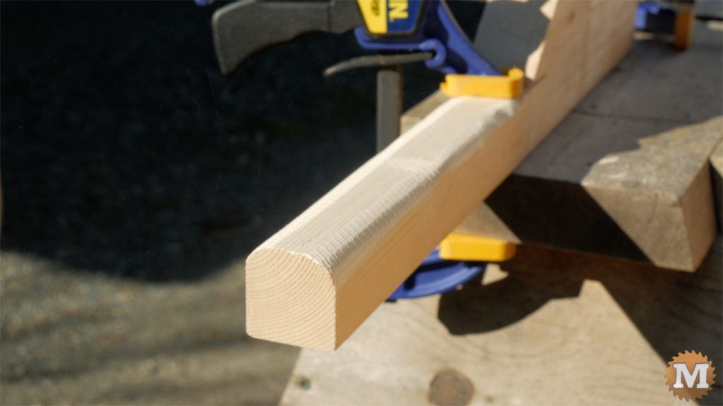 MAN about TOOLS - firewood cutting jig - clamped rounded handles