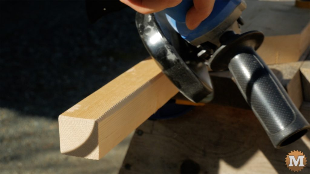 MAN about TOOLS - firewood cutting jig - angle grind handles