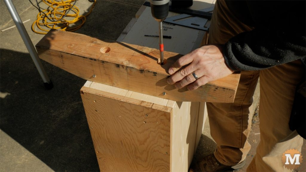 MAN about TOOLS - firewood cutting jig - long drill front support