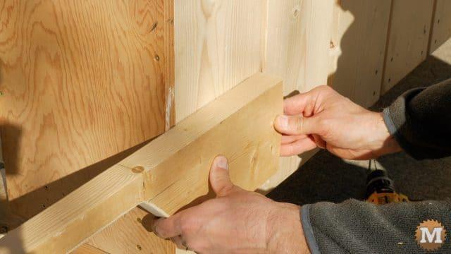 firewood cutting jig - attach wooden handles