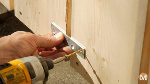 firewood cutting jig - attach mending plates