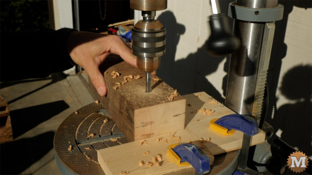 MAN about TOOLS - firewood cutting jig - drill rope weights