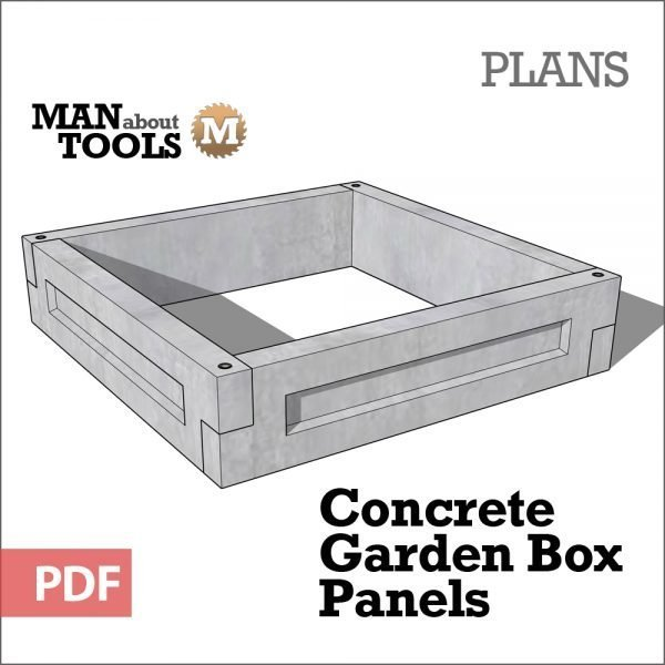 Concrete Garden Box Panels - digital plans