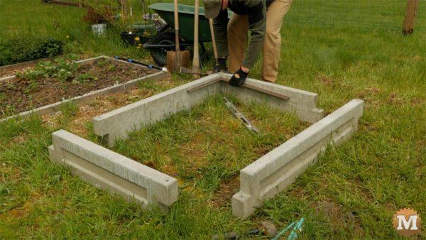 assemble concrete garden boxes
