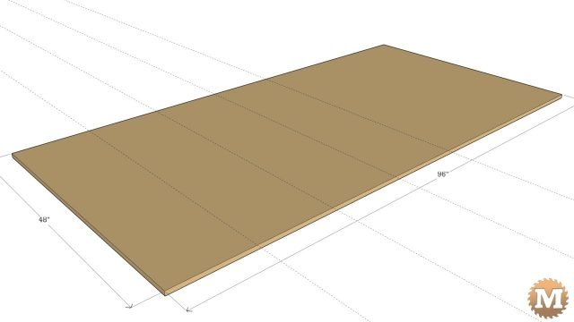 First Cuts to make plywood sheet easier to handle