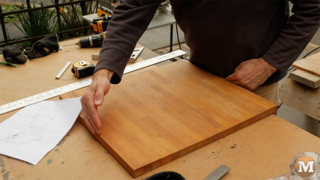DIY One Handed Cutting Board - too deep this way