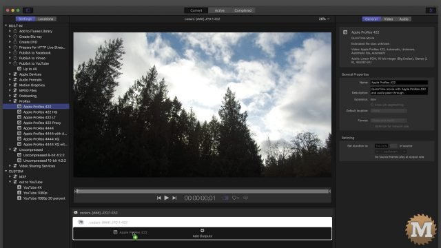 time lapse apple compressor action camera add prores codec
