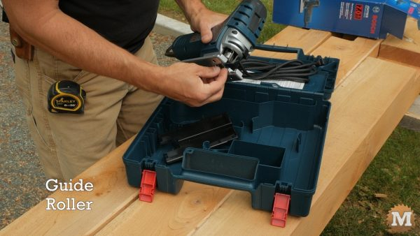 Guide roller helps to keep blade on track - Bosch Jigsaw Review