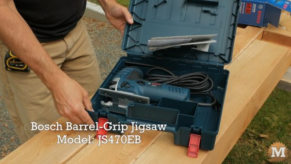Bosch Jigsaw in carrying case with manual and accessories
