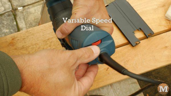 1-6 speed dial adjustments - Bosch Jigsaw Review