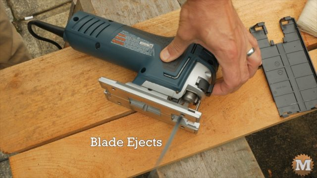 Bosch Jigsaw Review - Hot blades eject when lever is turned
