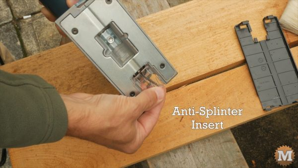 A small, clear, anti-splinter insert