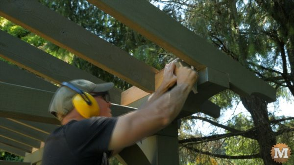 They also allow me to straighten rafters that have a twist to them - wood shed plans