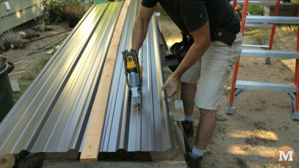 A thin strip is what\'s needed to finish the roof
