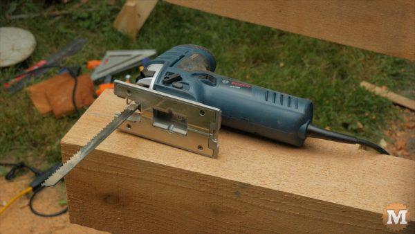 7.0 Amp Bosch kick ass jigsaw - Timber Frame Firewood Shed