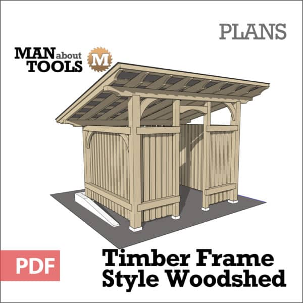 Timber Frame Woodshed woo