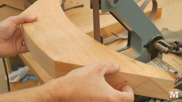 """1"""" sanding belt of a hobby sander smooths bandsaw marks"""