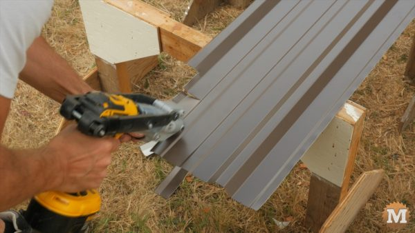 Last panels trimmed with cutter drill attachment