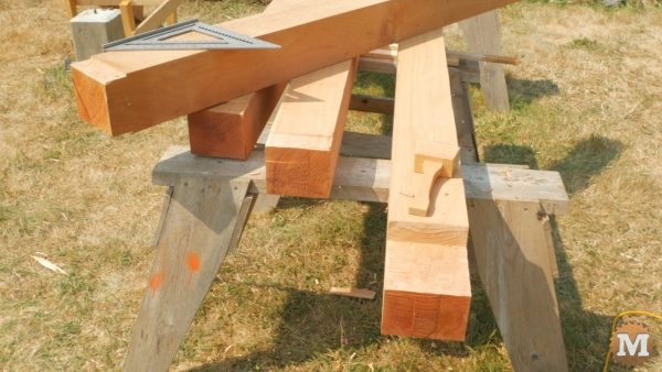 Rear posts have half lap cut in them