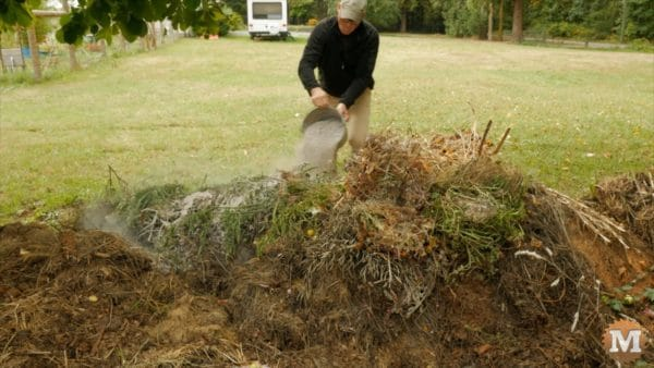 Sprinkle ashes over compost pile