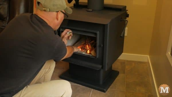 Ash Vacuum Review - lighting the stove