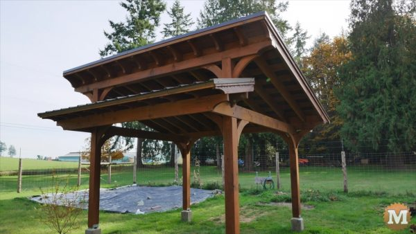 DIY Timber Frame Gazebo is complete!