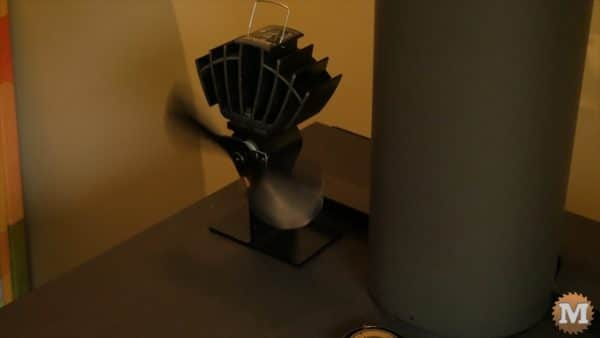 Electricity generating stove fan