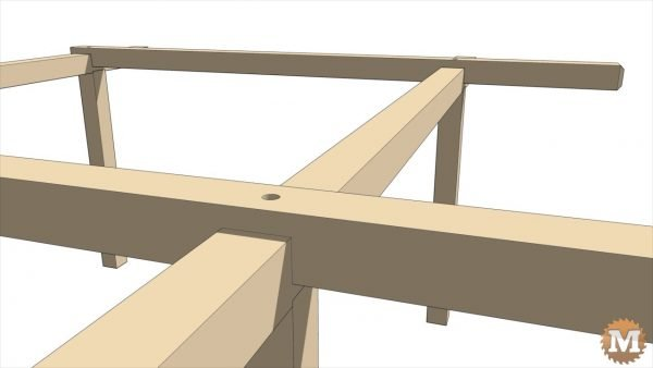 Pergola - Crossing beams