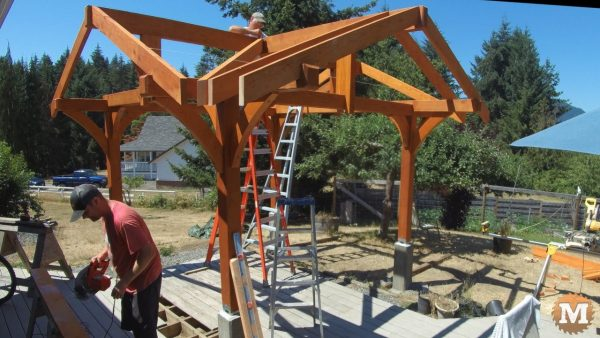 installing the hip rafter