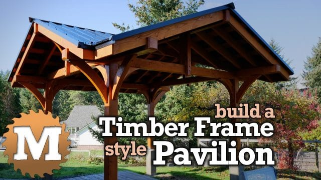 YouTube Thumbnail Three Gable Timber Frame style Pavilion Pergola Gazebo