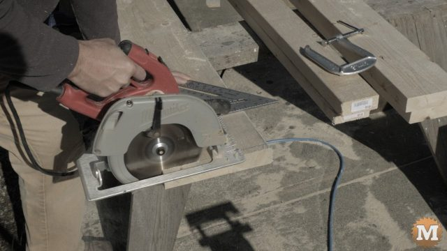 Circular saw an square can be used instead of miter saw