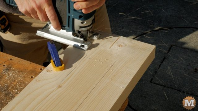 jig saw cutting the form base