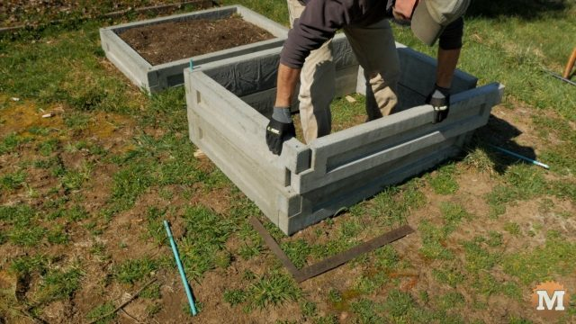 making a tall bed by staking more panels