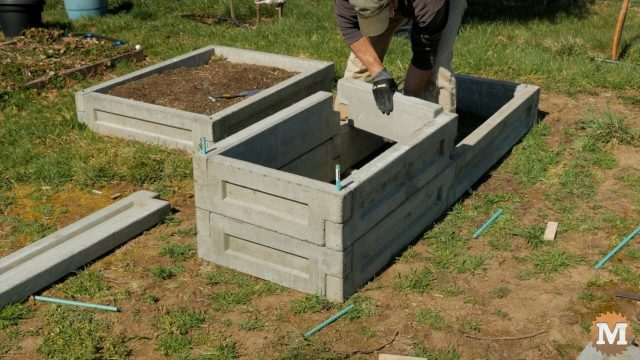 Concrete Garden Box half double height
