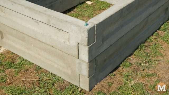 Concrete Garden Box panels can be stacked for deeper beds