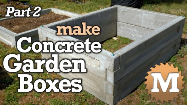 Make Concrete Garden Beds