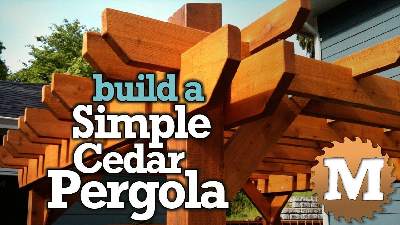 YouTube Thumbnail Simple Cedar Pergola V1