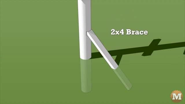 A low brace gives extra support