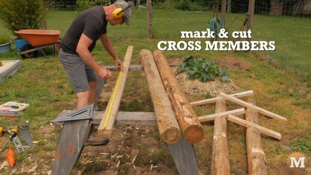 Marking cedar 2x4's