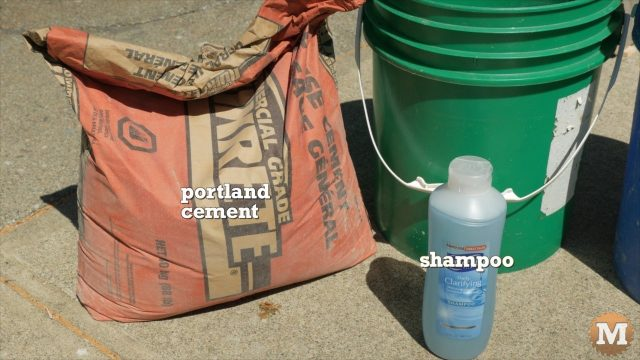 Aircrete Ingredients - Portland Cement and Shampoo