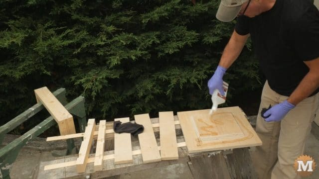Applying mineral oil to seal wood