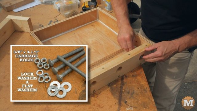 Carriage bolts used