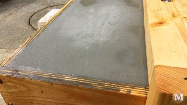 Concrete drying - showing haze