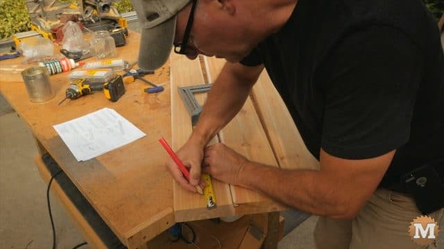 Marking hole locations in seat planks