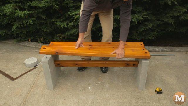 Placing seat planks