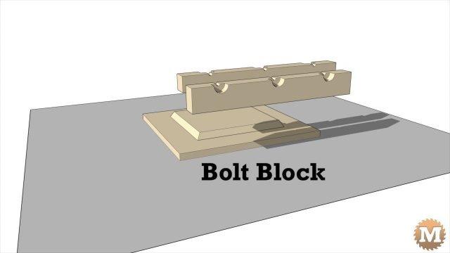 Concrete Garden Bench - Bolt block